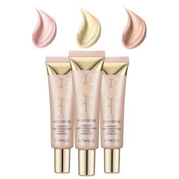 261f80feec5c Facial crema reparación iluminar líquido brillo cara tridimensional  reparación líquido Pre-maquillaje corrector bronceador resaltador