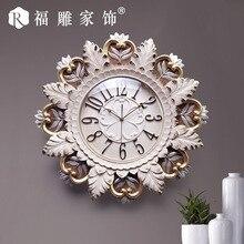 TUDA 2017 Wall Clock Creative Relief Decorative Table Clock Living Room Bedroom Personality Art Wall Clock