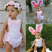 Autumn Summer Cute Newborn Baby Girl Clothing Lace Flower Tulle Bow Bodysuit Outfits Sunsuit