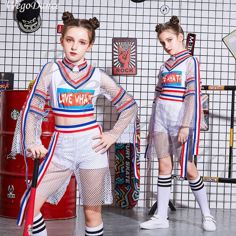 Children's hip hop street dance set Girls perform summer jazz dance costumes 100 160cm height