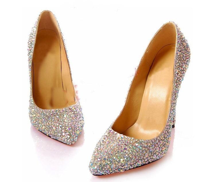 8cm terava varba õrn kontsaga populaarne pruudi kleit kingad Rhinestone kristall teemandid pool kleit daam Pulmakleidid pulm kingad
