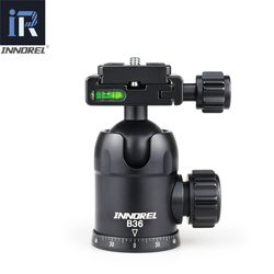 INNOREL B36 Aluminum Alloy Camera Tripod Ball Head with Quick Release Plate Maximum Load 12kg for Photography Panoramic Photo
