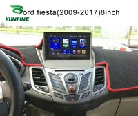 Quad Core 1024*600 Android 6.0 Car DVD GPS Navigation Player Deckless Car Stereo For Ford Fiesta 2012 Radio Headunit wifi