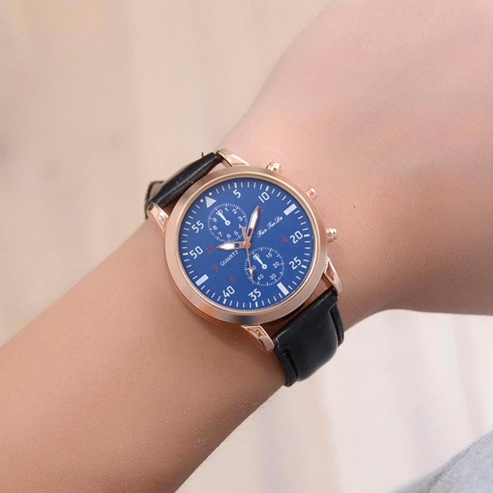 Fashion Men's Leather Alloy Analog Quartz Wrist Watch Business Watches relogio masculino reloj hombre 2018 watch men