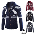 New Arrival Men Sweater,Fashion Deer Animal Designer Sweater coat,4 Colors Male cardigan knitted sweater,Free shipping