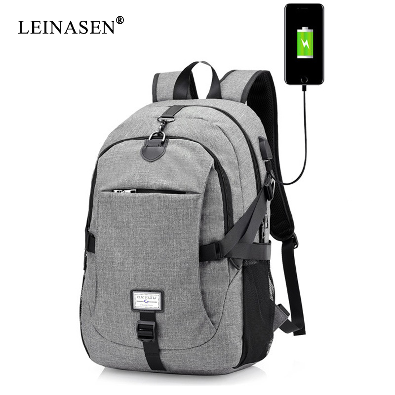 2019 New Men Male Oxford Multifunction USB charging Backpack College Student School Backpack Bags for Teenagers Laptop Backpacks image