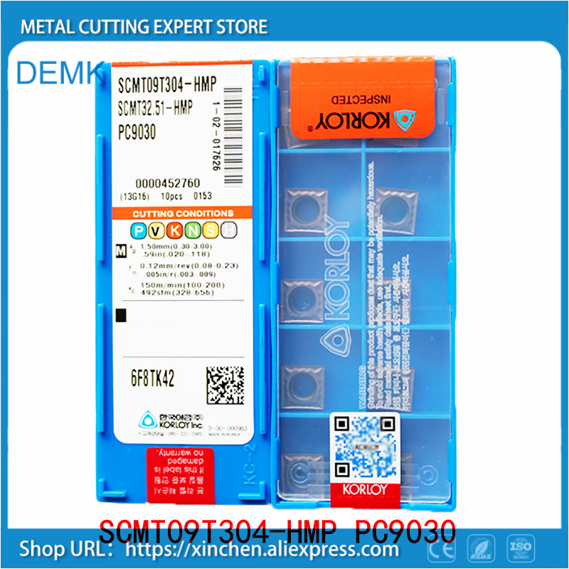 SCMT09T308 HMP PC9030 Carbide Turning Insert,Plate for Lathe Holder SSKCR/SSSCR/SSDCN,Suitable for Processing Stainless Steel