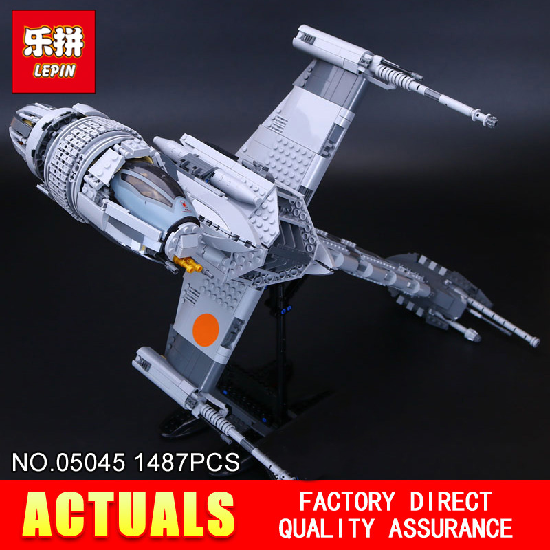 Lepin 05045 1487pcs STAR Genuine The B Starfighter wing Educational Building Blocks Bricks Toys 10227 for Gifts model WARS lepin 05045 new 1487pcs genuine star war series the b wing starfighter building blocks bricks educational toys