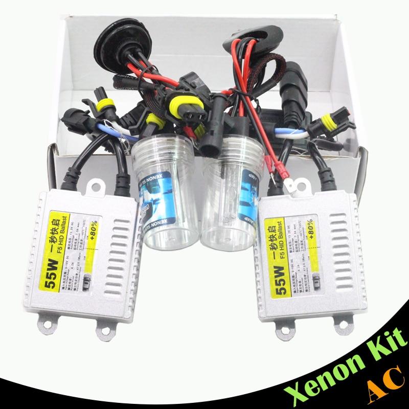 ФОТО Cawanerl 9006 HB4 55W Ballast Bulb HID Xenon Kit AC 3000K-15000K Car Headlight DRL Fog Lamp