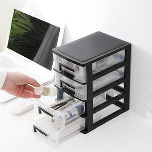 OUNONA 2/3/4 Layers Cosmetics Storage Box Transparent Desktop Drawer Storage Box Home Office Table Storage Box Makeup Organizer