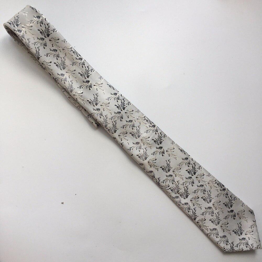 Lujo único lazo Formal 8 cm clásico plata Paisley Corbata con ...