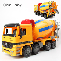 Hot Children Emulational Big Size Inertial Cement Truck Movable Car Toys Machinery Concrete Truck For Kids Christmas With Box