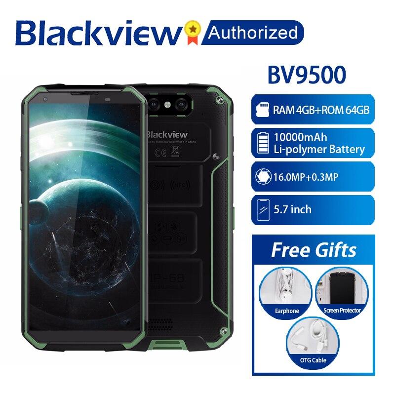"Blackview BV9500 Android 8.1 Octa Core 5.7"" 18:9 MTK6763T 4GB RAM 64GB ROM IP68 Waterproof Smartphone NFC OTG 4G Mobile Phone"