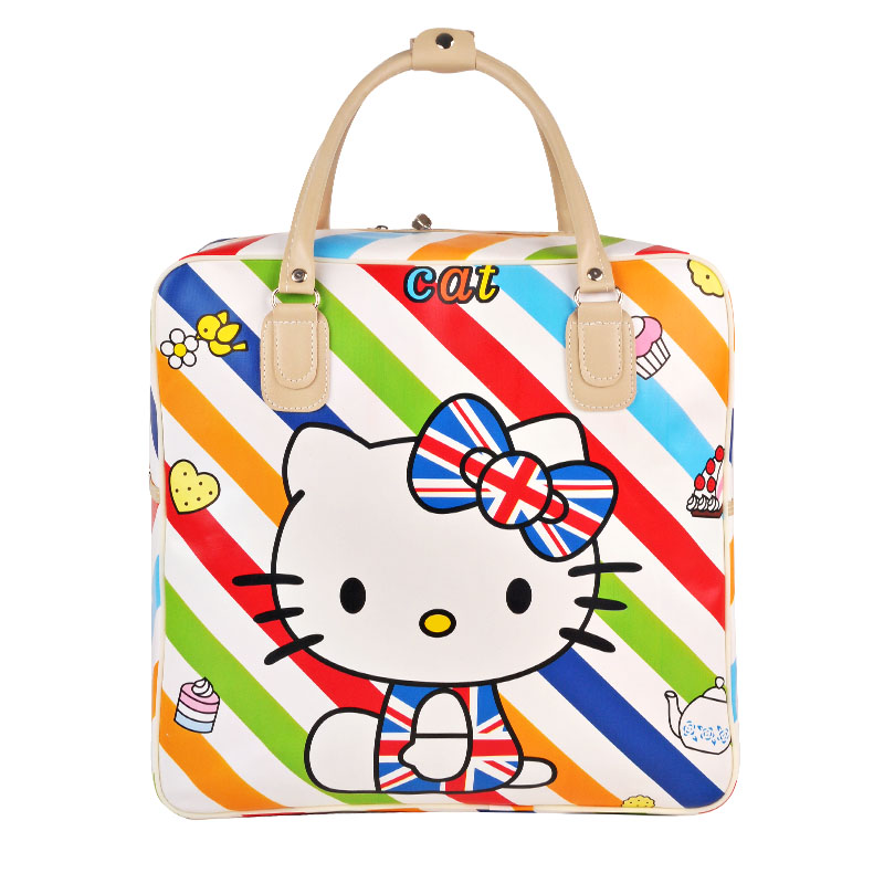 Cute Hello Kitty Handbag Girls Womens Travel Messenger Bags Dual-use Organizer Shoulder Accessories Supplies Products valise