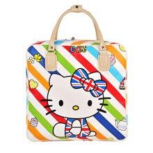 Cute Hello Kitty Handbag Girl's Women's Travel Messenger Bags Dual-use Organizer