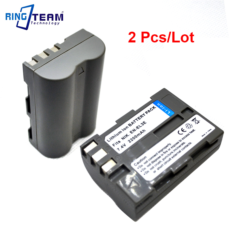 2Pcs/lot ENEL3E EN-EL3E Battery for Nikon D300 D300S D200 D100 D700 D90 D80 D70 D70s D50 D-100 D-300 D-70 D-90 SLR DSLR Cameras 2x 2200mah en el3e enel3e battery usb charger for nikon d90 d80 d300 d300s d700 d200 d70 d50 d70s d100 d 100 d 300 d 70 d 90 slr