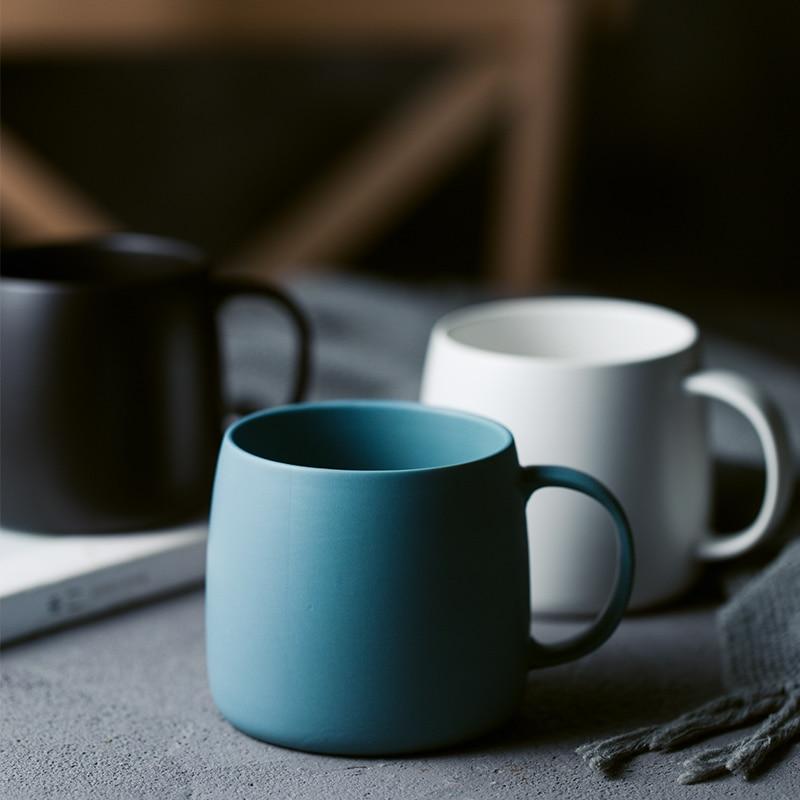 Atender nórdico Fosco Canecas de Cerâmica Copo Escritório Alça Copo Bebendo Xícara de Leite Em Casa