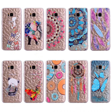 Luxury 3D Diamond Flower Animal Feather Pattern Solf Cover Phone Case For Samsung Galaxy S8 S9 Plus J3 J4 J5 J6 J7 2017 2018