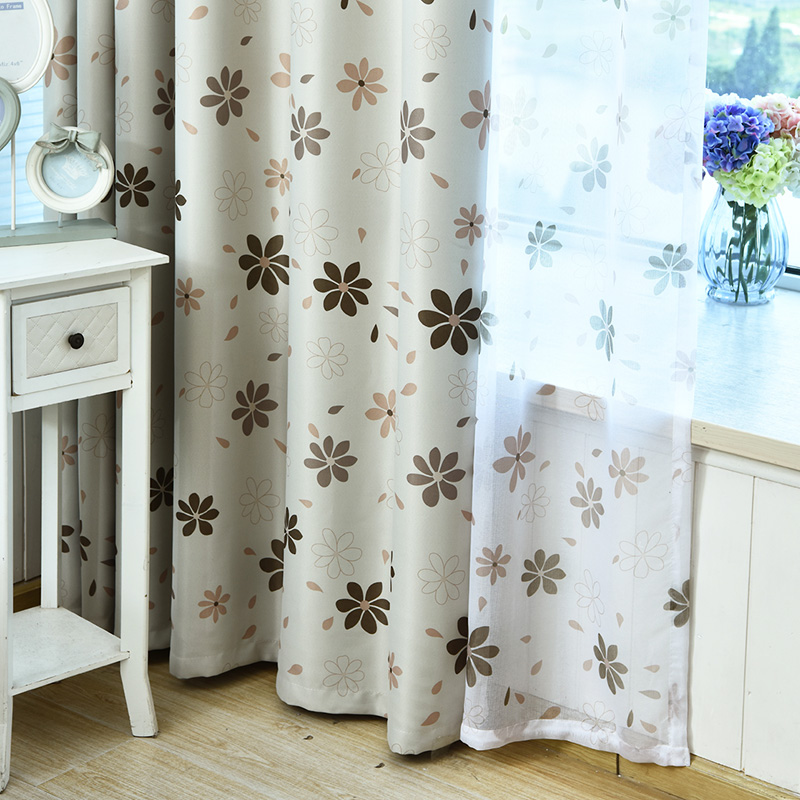 Country Petals Window Curtain Drapery -huone tummentava ikkunapaneeli verhot Blackout-verhot Living Room -huoneen ikkunankäsittely