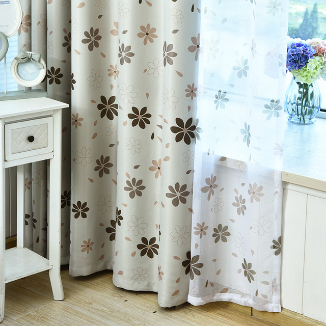 Country Petals Window Curtain Drapery Room Darkening Panel Drapes Blackout Curtains Living Bedroom