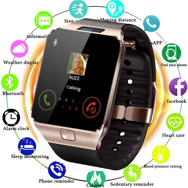 Relógio inteligente DZ09 para Apple Relógio com Câmera 2G SIM Slot Para Cartão TF Bluetooth Telefone Smartwatch para Android IPhone xiaomi Rússia T15