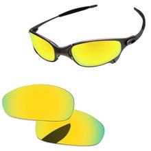 973308685 24 K Ouro Espelho Polarized Lentes de Reposição Para O Juliet Sunglasses  Quadro 100% UVA & Uvb