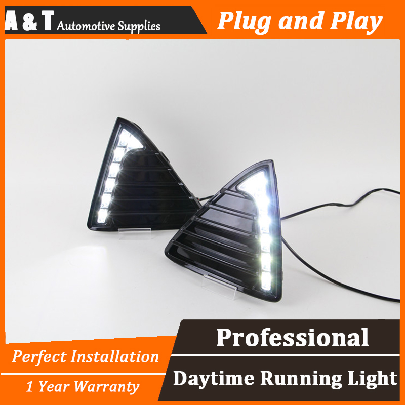 car styling For Ford Focus LED DRL For Focus led fog lamps daytime running light High brightness guide LED DRL For Langya style 2pcs car styling round front bumper led fog lights high brightness drl day driving bulb fog lamps for toyota avensis saloon t25