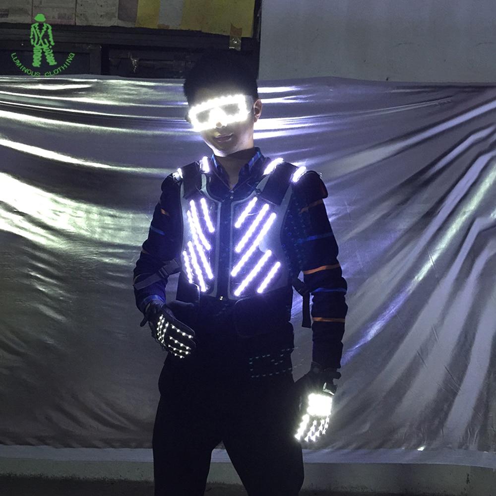 Gratis frakt LED-belysning rustning vest vest lys lys rustning med - Fest utstyr