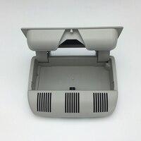 Grey Car Sunglass Holder Glasses Box Ceiling Case Fit For Skoda Octavia Fabia