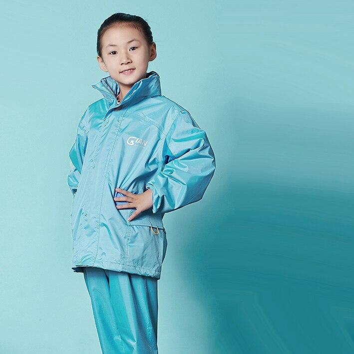 JIAN Winter Rain coat Set  Luminous Jacket ,Rain Pants,Slicker,Rain Poncho,Outdoor  Raincoat for Children Raingear,Thicken Lined