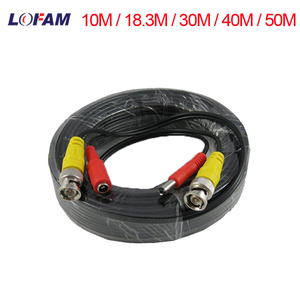 LOFAM BNC Cable 10M / 18.3M / 30M / 40M / 50M CCTV Video Coaxial Cable BNC Connector and DC Power Copper Cord Siamese Analog AHD DVR Camera Cable Security Surveillance CCTV Accessoires(China)