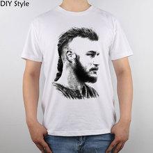 Ragnar Lothbrok Vikings Ragnar Lodbrok Pop Kunst Vikings T-shirt Top Reiner Baumwolle Männer t-shirt Neue Design Hohe Qualität