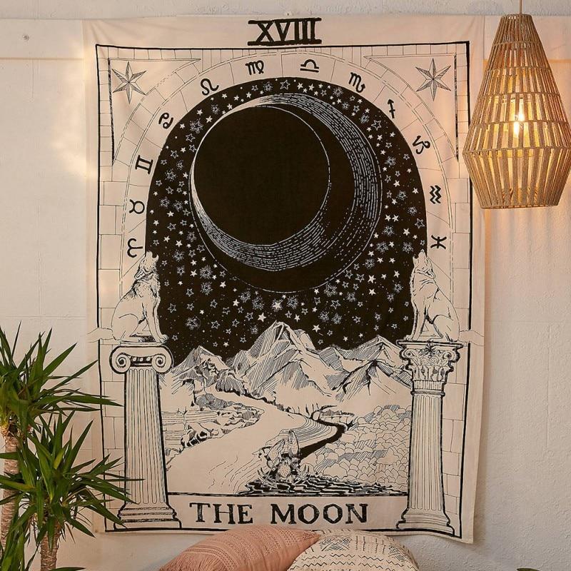 Tapiz Mandala Hippie bohemio tapices colgante de pared flor tapiz psicodélico
