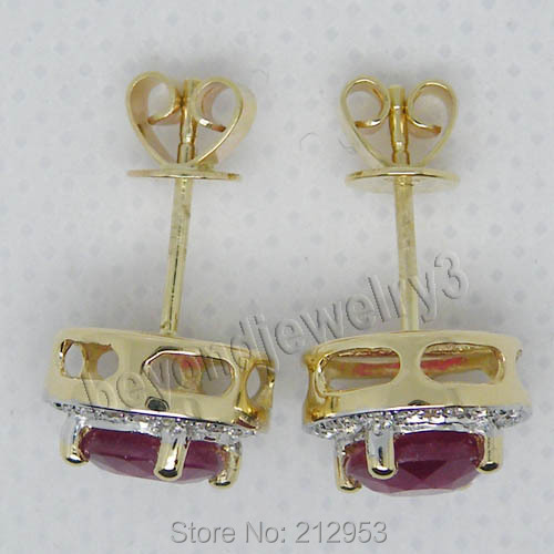 New Fashion Red Ruby Stub Earrings Solid 14Kt Yellow Gold Vintage Round 6 5mm Blood Red.jpg 640x640 - New Fashion  Red Ruby Stub Earrings Solid 14Kt Yellow Gold Vintage Round 6.5mm  Blood Red Ruby Earrings ESR006