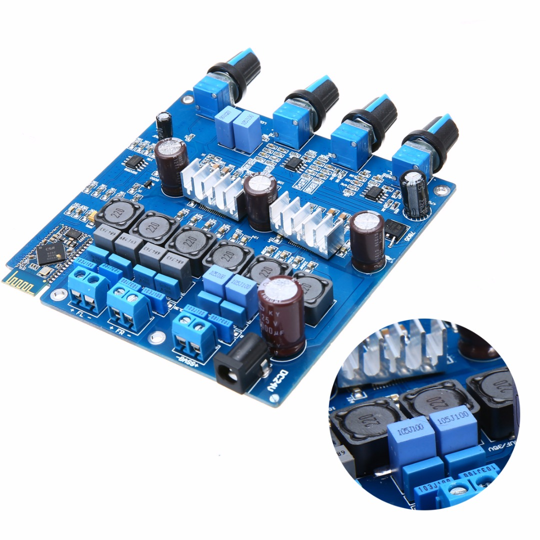 цена на New TPA3116 Class D Digital Amplifier Board High Quality Bluetooth 2.1 Amplifier Board 100W+2*50W Mayitr