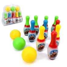 Colorful Cartoon Standard Bowling Set Bowling Balls Children Kids Educational Toys Indoor Outdoor Sport(China)