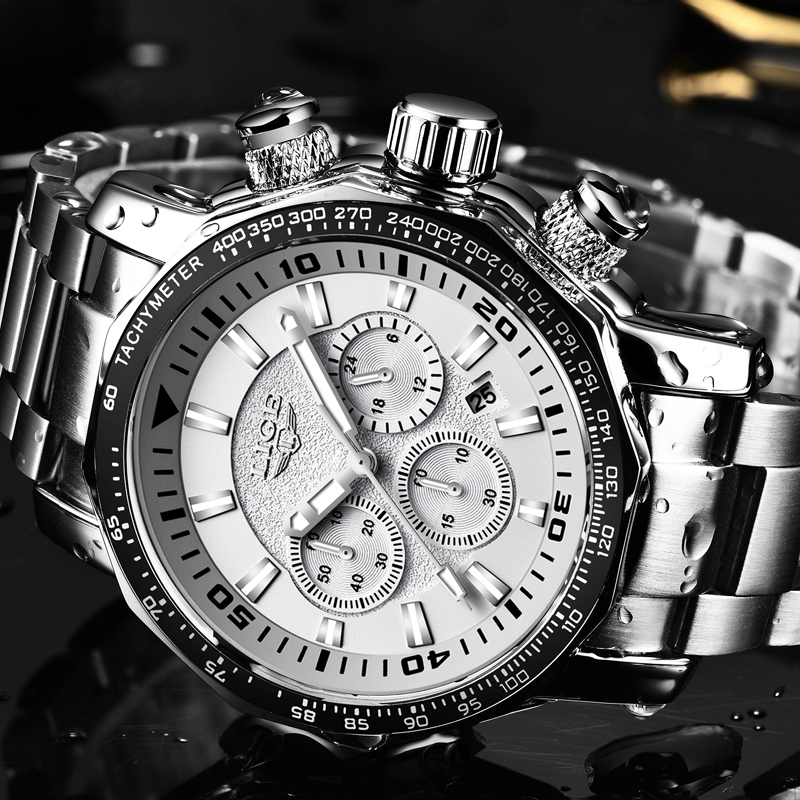 Relogio Masculino Mens Watches LIGE Top Brand Luxury Men Military Sport Watch Mens Dial Waterproof Watch Gift Quartz Wristwatch