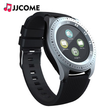 Купить с кэшбэком Bluetooth Smart watch with sim card TF Sport Facebook Whatsapp PK V8 Q9 For xiaomi band Android Smartwatch Men Women Smartband
