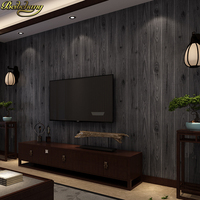 beibehang Wood wallpapers for living room decoration clothing shop restaurant tea house engineering 3D wallpaper for wall paper