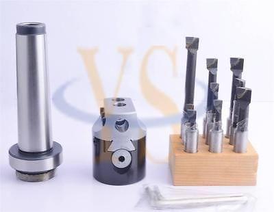 ФОТО New MT4 50mm boring head set with 9pcs boring bar carbide tips CNC Milling tools