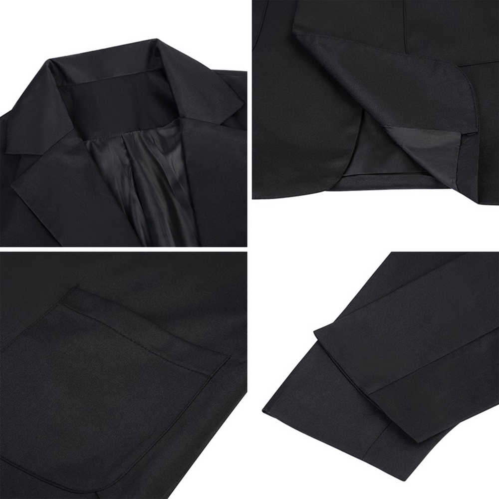 NIBESSER/Весенний Женский блейзер, модный однотонный кардиган с длинными рукавами, пиджак, костюм, винтажная верхняя одежда с отложным воротником, Женский блейзер, Топ