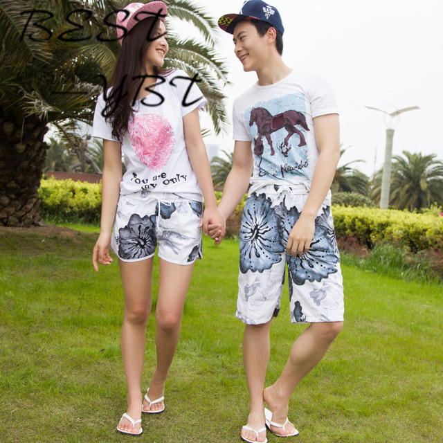 Chinese Painting Style Summer Lovers Beach Shorts Men's Beach Pants Male Quick-drying Pants Big Pants Fifth