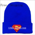 Горячая! 2016 Новая Мода Зима Вышитые Шапочки Hat Супермен Бэтмен Трикотажные Hat Cap Для Женщин Мужчин Спортивные Теплые Бэтмен Шляпы