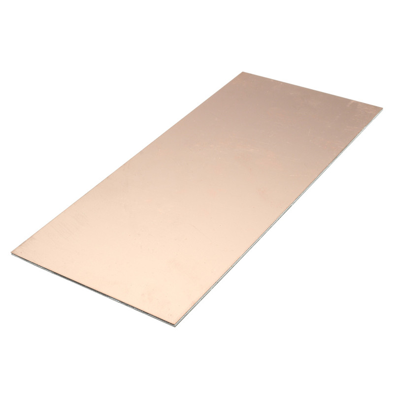 1PC 100x220x1 5mm Double Sided Copper Clad Plate PCB Circuit Board FR4  Laminate FR4 Glass Fiber Board Best Price