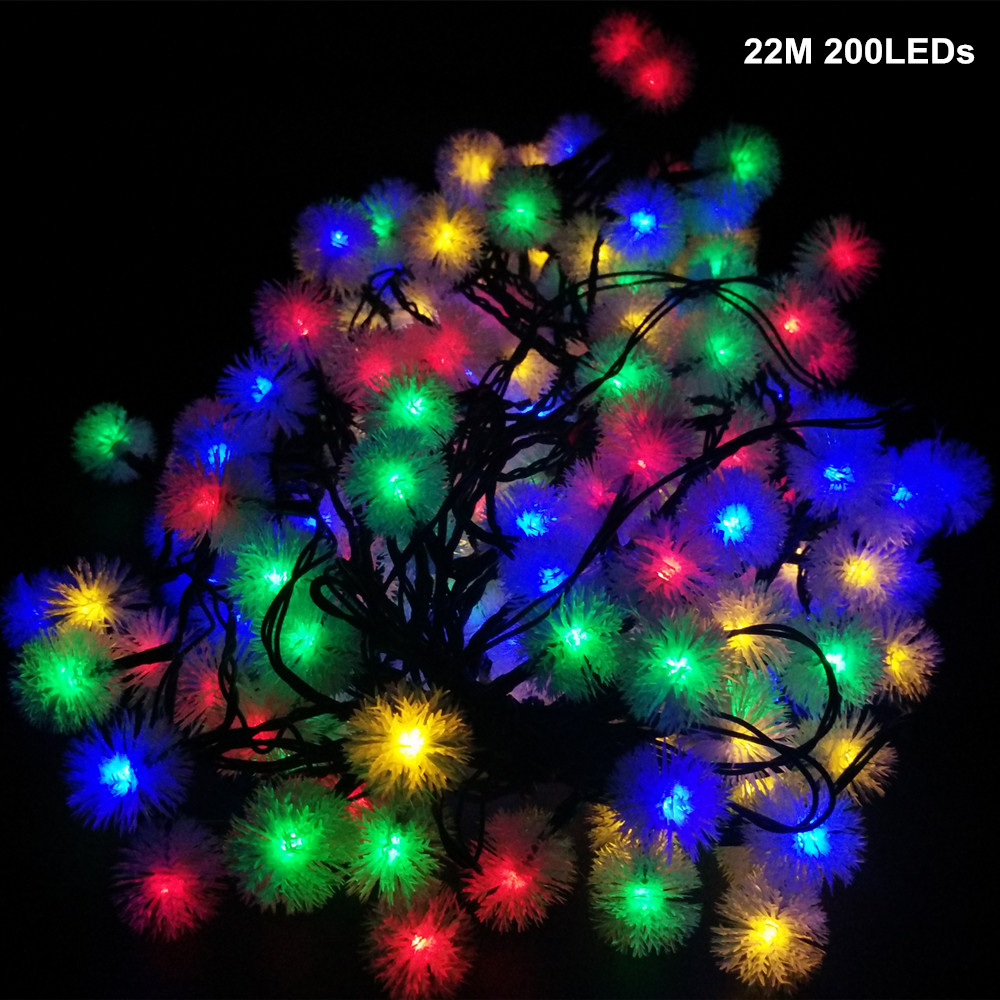 yiyang 48m 7m 10m 12m xmas decoration outdoor christmas flasher guirlande lumineuse snow ball lights