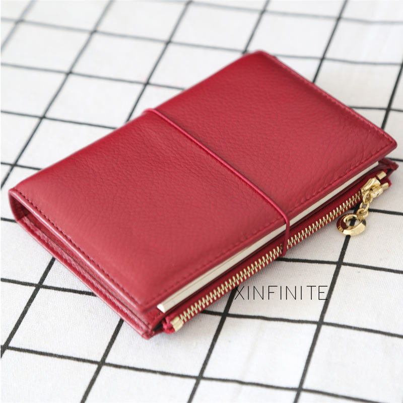 Yiwi 100% Genuine Leather Notebook 9x12.5cm Passport Handmade Vintage Cowhide Diary Travel Journal Sketchbook Planner Gift