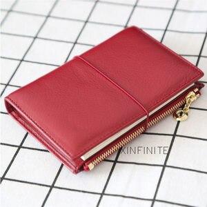 Image 1 - Yiwi 100% Genuine Leather Notebook 9x12.5cm Passport Handmade Vintage Cowhide Diary Travel Journal Sketchbook Planner Gift