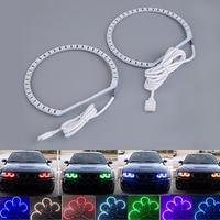 4 stücke E36 E38 E39 E46 RGB 4*131mm Multi-Farbe 5050 Flash LED Auto ANGEL EYES scheinwerfer Ringe kit für BMW Heißer Verkauf