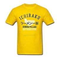 Oversize Casual Teenage T Shirts Ichiraku Ramen Clothing 100 Cotton Short Sleeve Camisetas Men XS 3XL