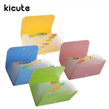Kicute Solid Color File Document Folder Bag Case Bills Receipts Pouch Card Holder Organizer School Supplies 17.7×11.8×2.3cm